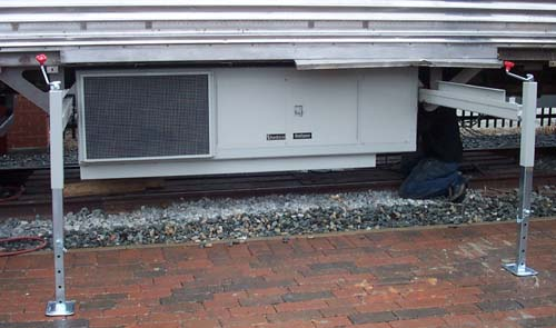 under-car generator with roll-out track